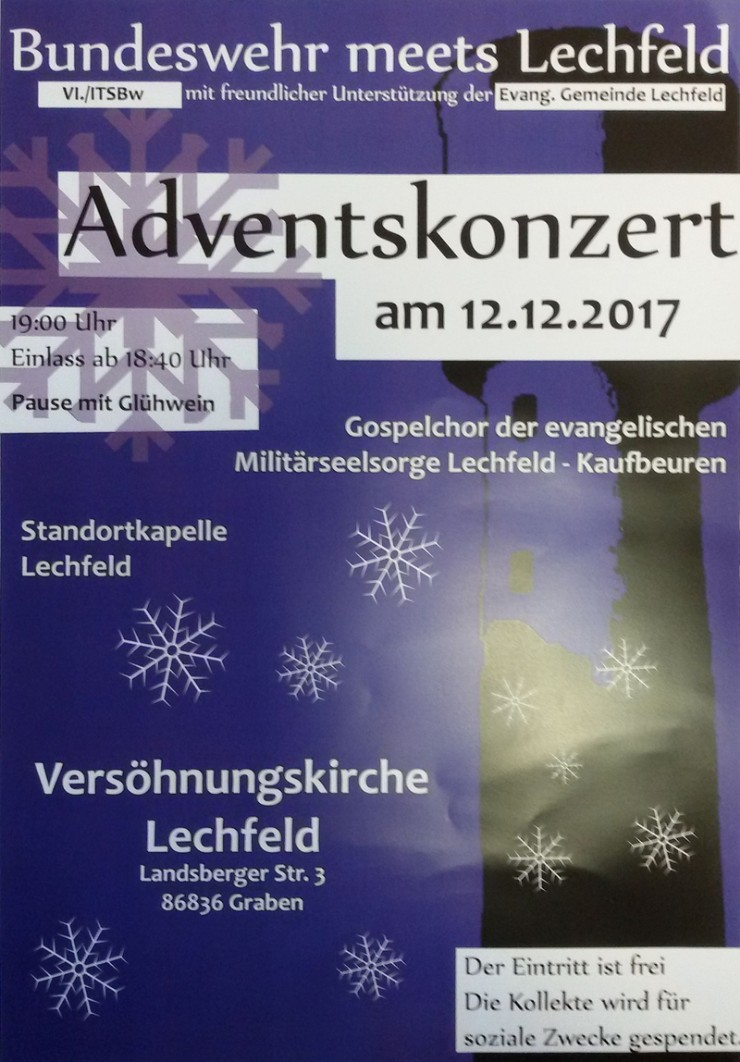 Plakat Adventskonzert am 12.12.2017